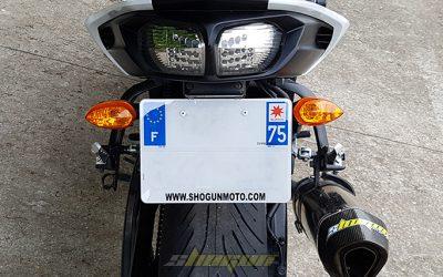 Plaque d'immatriculation moto nouveau format